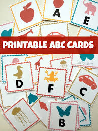 abc letters printable alphabet cards lalymom
