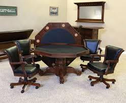 poker game table set c l bailey winslow dining game table set robbies billiards
