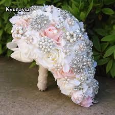 cascading bouquet kyunovia vintage blush cascading bouquet teardrop butterfly brooch