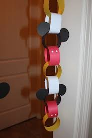 Mickey Mouse party decoration or a count down to a family trip