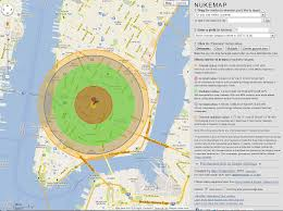 Map Radius Interactive Nuke Map Displays Possible Nuke Explosion Radius Type