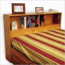 Bed With Bookshelf Headboard How To Build A King Size Bookcase Headboard Hunker