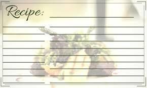 elegant recipe card template allfreepapercrafts com