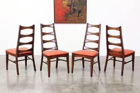 mid century modern bow tie high back dining chairs vintage