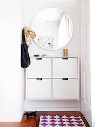 Entry Table Ikea Ditch The Clutter 30 Minimalist Entryways Clutter Mirror Hooks
