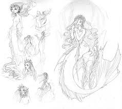mermaid sketches zephyri deviantart