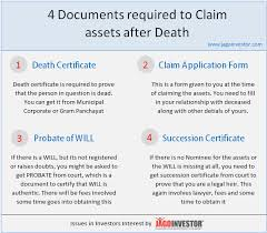 claiming assets after death here are 4 important documents you