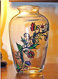 How To Paint Inside Glass Vases 49 Best Glass Painting Images On Pinterest Hand Painted Glass