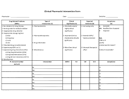 electronic documentation of clinical pharmacy interventions in
