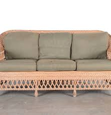 wicker sofa by henry link ebth