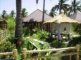 villa bulan madu beachfront gili air lombok indonesia