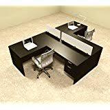 Two Person Reception Desk Amazon Com 3pc L Shape Modern Office Reception Desk Ot Sul R8