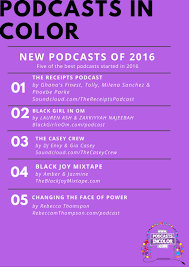 the full list top 2016 podcasts for podcasts in color u2014 podcasts