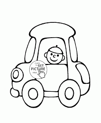 cute small car coloring page for preschoolers transportation