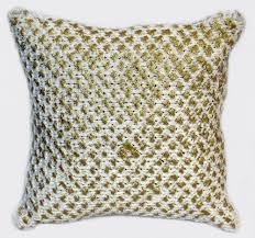 Knit Cushion Cover Pattern Magestic Knitted Cushion Cover With Foil Print Buy Best Price