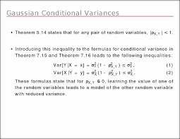 the conditional expected value and variance of x are e x y u003d y