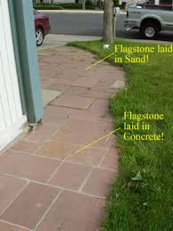 How To Make A Flagstone Patio With Sand Savvy Housekeeping Different Types Of Flagstone Patios