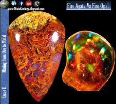 types of opal fire agate vs fire opal mining geology