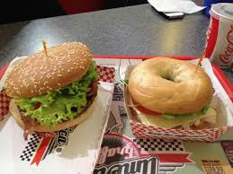 baconcheese burger thanksgiving bagel gnam gnam picture of