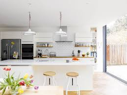 a functional and stylish kitchen in an open floor plan kitchen