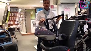 comment attacher un siège auto bébé siège auto groupe 0 créatis fix et pebble bébé confort gafi