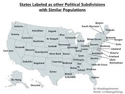 United States Map With Labeled States by A Map Of The States Labeled As Other Administrative Divisions With