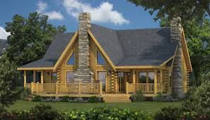 Log Homes Floor Plans With Pictures by The Caroline I