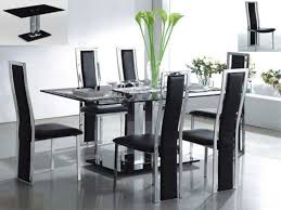 modern glass top dining table modern glass dining room table glass dining table and chairs round