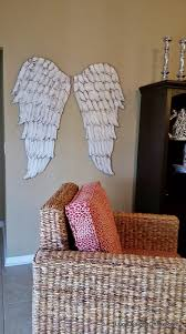wood angel wings wall art large carved look wooden angel wings