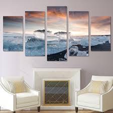 wohnzimmer leinwand stilvoll wand poster wohnzimmer leinwand malerei 5 panel eis
