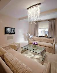 Cream Living Room by Living Room Lighting Ideas With Gallery Also Chandelier For Small