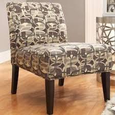 Striped Slipper Chair Inspire Q Peterson Mocha Wavy Stripe Slipper Chair By Inspire Q