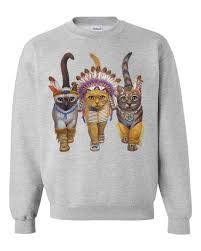 native cat sweatshirt on the hunt