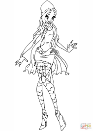 winx club daphne 2 coloring free printable coloring pages