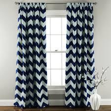 Navy Window Curtains Chevron Blackout Window Curtain Set Lush Decor Www Lushdecor