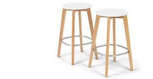 bar stool pics set of 2 bar stool oak and white fjord made com