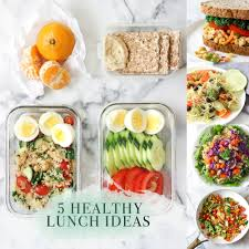 5 healthy lunch recipes exploring healthy foods