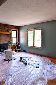 how to paint a wall our living room the domestic domicile
