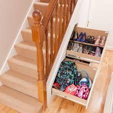 built in slide out shoe cabinet drawer for helmets etc under
