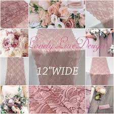 dusty rose table runner 30ft dusty rose lace table runner 12wide lace overlay weddings