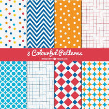colorful patterns pack vector free download