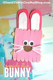 popsicle stick easter bunny kid craft easter bunny easter and