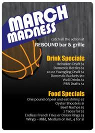 march madness table tent sports flyer