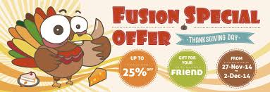 fusion special offer on thanksgiving day to get gift for