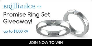 promise ring engagement ring wedding ring set 1000 brilliance promise ring giveaway giveaway monkey