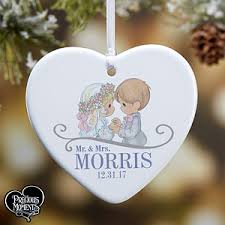 personalized wedding ornament precious moments heart christmas