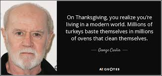 george carlin quote on thanksgiving you realize you re living in a