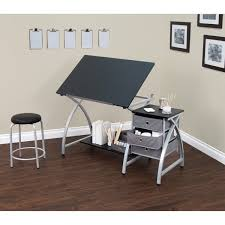 Drafting Craft Table Studio Designs Comet Silver Black Drafting Hobby Craft Table With