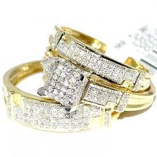 Diamond Wedding Rings For Women by Trio Wedding Rings Set His And Her Rings Set Real Diamond Rings