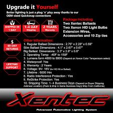 lexus warranty extension xentec hid xenon light 55w 2 bulbs 2 ballasts kit for lexus mazda